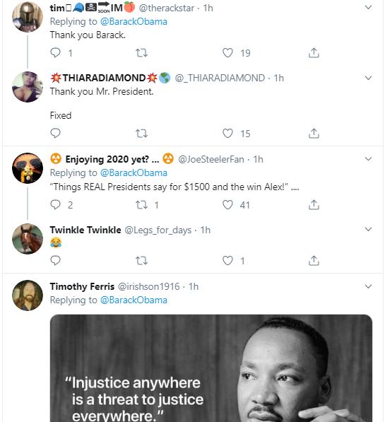 obama14 Obama Tweets MLK Day Message Like A True President Donald Trump Politics Social Media Top Stories