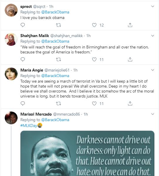 obama18 Obama Tweets MLK Day Message Like A True President Donald Trump Politics Social Media Top Stories