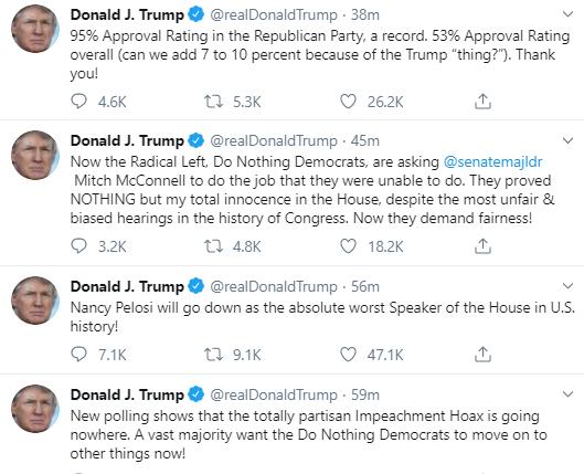 rant Trump Suffers Pre-Dawn Multi-Tweet Emotional Meltdown Donald Trump Politics Social Media Top Stories