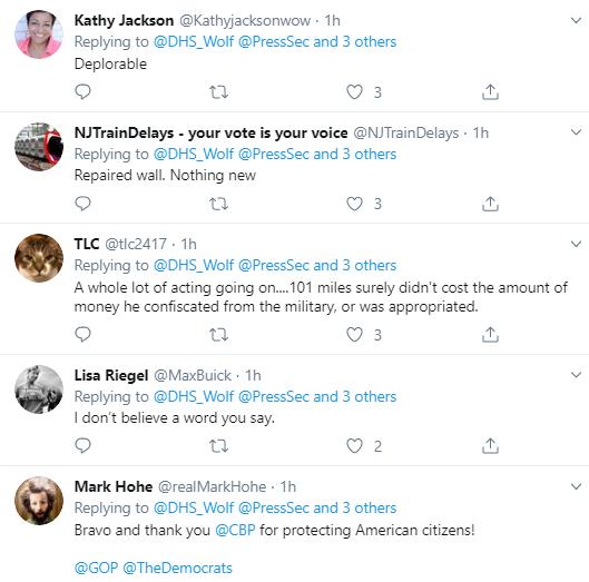 wall5 Trump Embarrassingly Celebrates 100 Measly Miles Of Border Wall Donald Trump Politics Social Media Top Stories