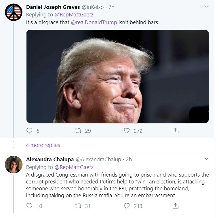 Gaetz3 Gaetz Flooded With Digital Hate-Mail For Attacking McCabe Donald Trump Featured Top Stories Twitter