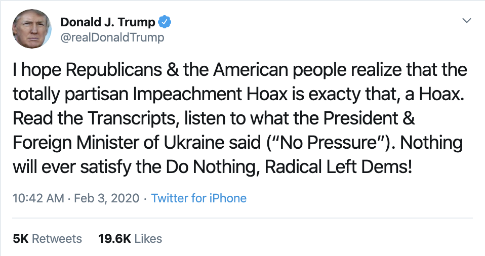 Screen-Shot-2020-02-03-at-11.04.35-AM Trump Continues Monday Morning Impeachment Rant Corruption Election 2020 Featured Politics Top Stories