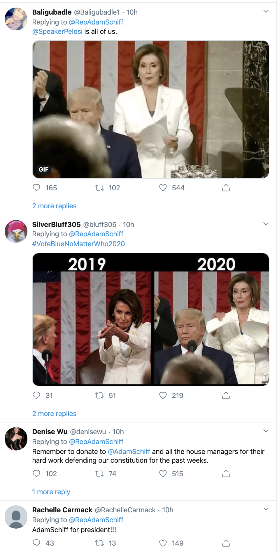 Screen-Shot-2020-02-05-at-9.00.15-AM Schiff Upstages Trump During SOTU With Snarky Twitter Trolling Featured Impeachment Politics Top Stories Twitter