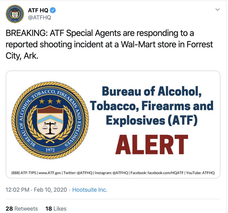 Screen-Shot-2020-02-10-at-1.27.49-PM Mass Shooting At Arkansas Walmart Hits Multiple Victims Corruption Crime Featured Gun Control Top Stories