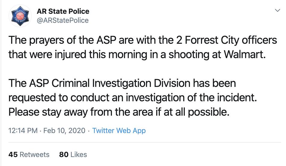 Screen-Shot-2020-02-10-at-1.50.23-PM Mass Shooting At Arkansas Walmart Hits Multiple Victims Corruption Crime Featured Gun Control Top Stories