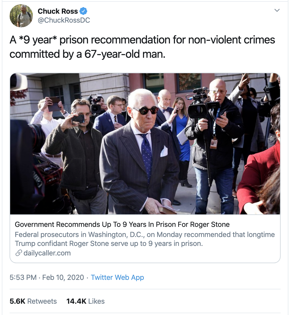 Screen-Shot-2020-02-11-at-9.28.40-AM Trump Wigs Out On Twitter Over Roger Stone Sentencing Donald Trump Election 2020 Featured Politics Top Stories