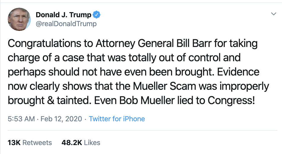Screen-Shot-2020-02-12-at-7.37.45-AM Trump Wakes Up & Has Rage Tweet Filled Mental Collapse Corruption Donald Trump Featured Politics Top Stories