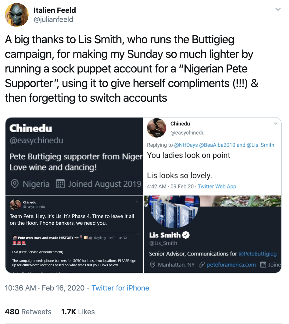 Screen-Shot-2020-02-16-at-1.35.01-PM Buttigieg Camp Accused Of Creating Fake Black Twitter Accounts Corruption Election 2020 Featured Politics Top Stories