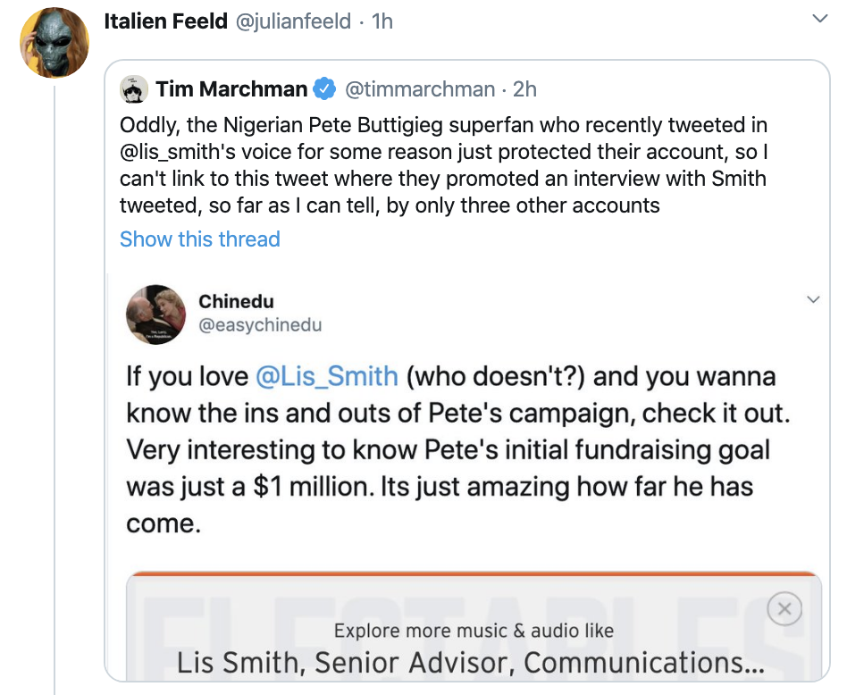 Screen-Shot-2020-02-16-at-1.44.58-PM Buttigieg Camp Accused Of Creating Fake Black Twitter Accounts Corruption Election 2020 Featured Politics Top Stories