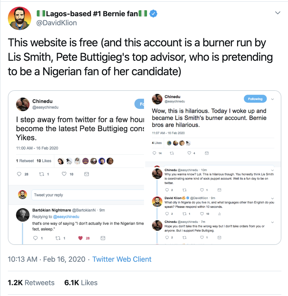 Screen-Shot-2020-02-16-at-2.37.41-PM Buttigieg Camp Accused Of Creating Fake Black Twitter Accounts Corruption Election 2020 Featured Politics Top Stories