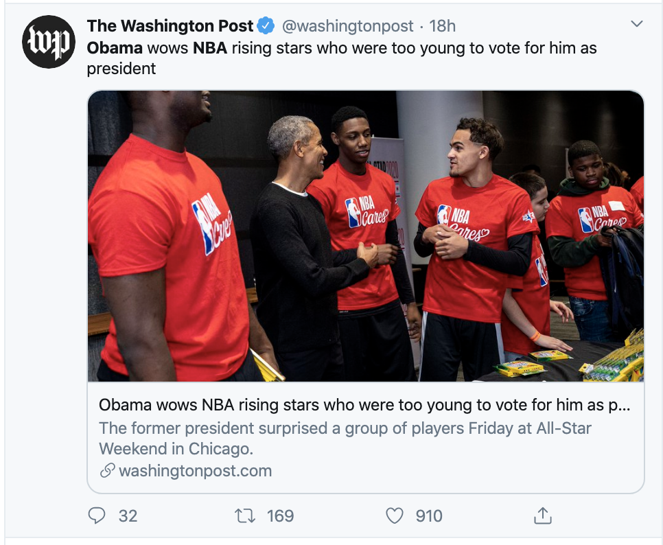 Screen-Shot-2020-02-16-at-9.57.54-AM Obama Upstages Trump With Inspirational Weekend Speech To America Featured Politics Racism Sports Top Stories