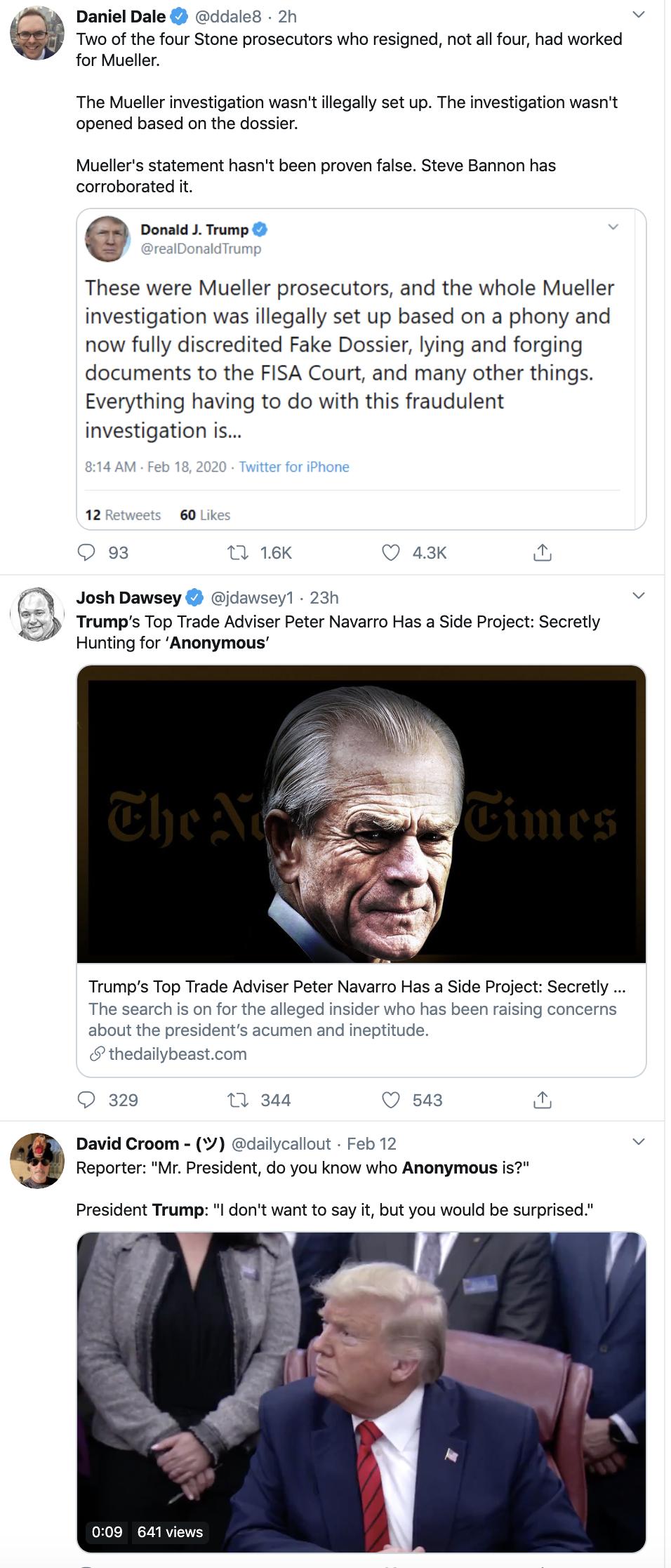 Screen-Shot-2020-02-18-at-10.06.30-AM WH Press Secretary Threatens 'Anonymous' Trump Author Corruption Donald Trump Featured Politics Top Stories