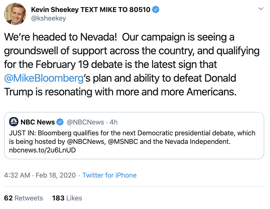 Screen-Shot-2020-02-18-at-8.15.38-AM 2020 Democratic Presidential Frontrunner Announced Election 2020 Featured Politics Polls Top Stories