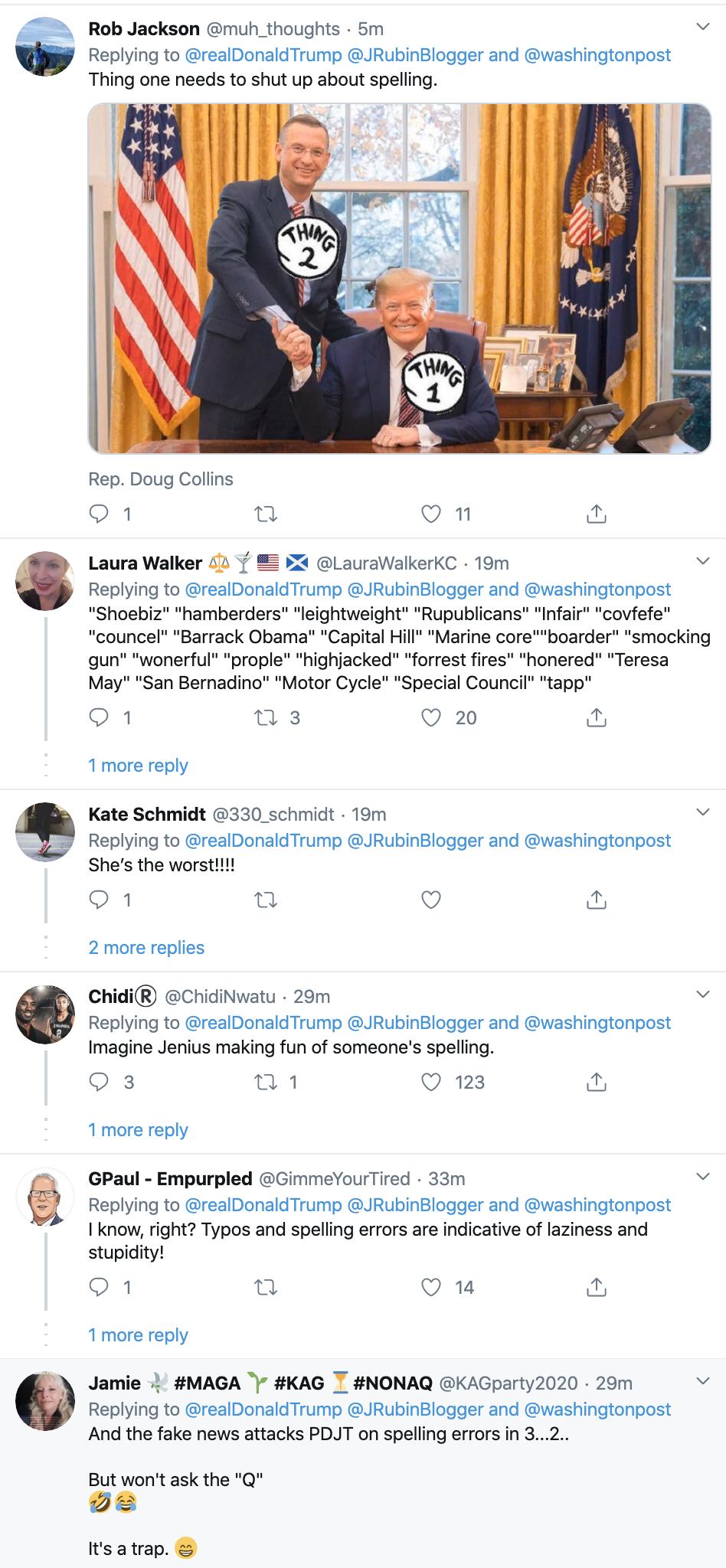 Screen-Shot-2020-02-20-at-7.14.10-AM WaPo Columnist Jennifer Rubin's Typo Attacked By Mr. Misspeller Himself, Trump Corruption Donald Trump Featured Politics Top Stories