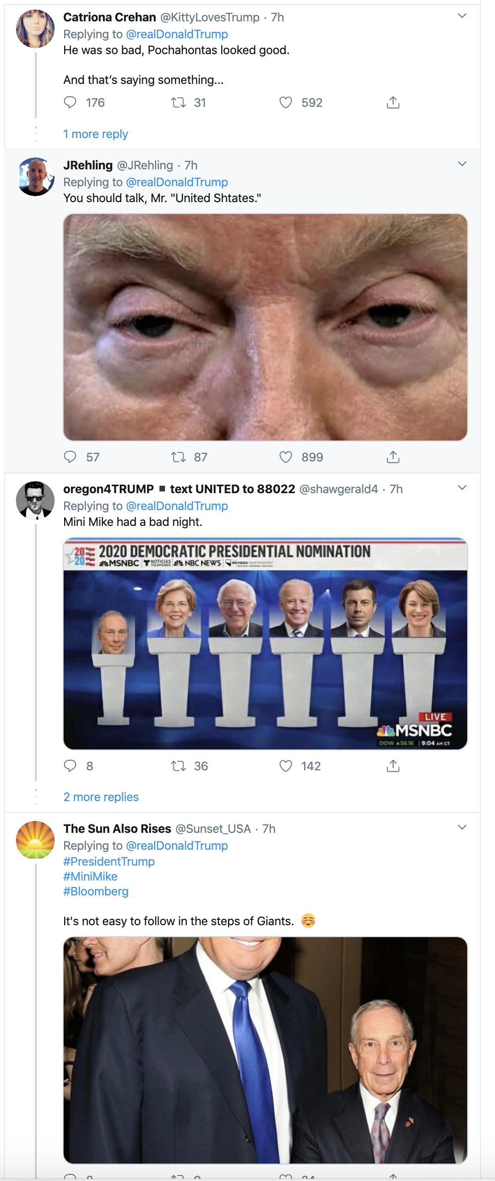 Screen-Shot-2020-02-20-at-8.20.18-AM Trump Tweets Fake Bloomberg Video During Multi-Tweet AM Meltdown Donald Trump Election 2020 Featured Politics Top Stories