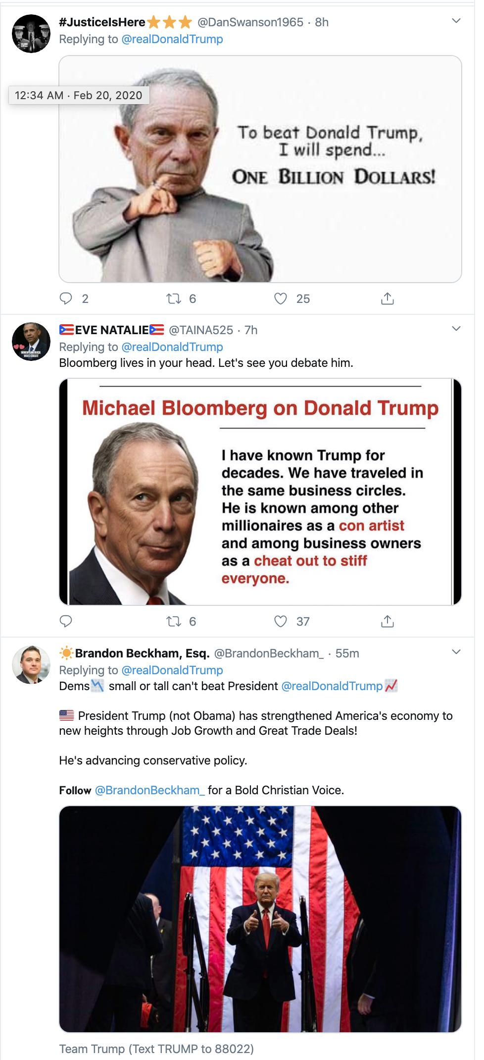 Screen-Shot-2020-02-20-at-8.21.30-AM Trump Tweets Fake Bloomberg Video During Multi-Tweet AM Meltdown Donald Trump Election 2020 Featured Politics Top Stories