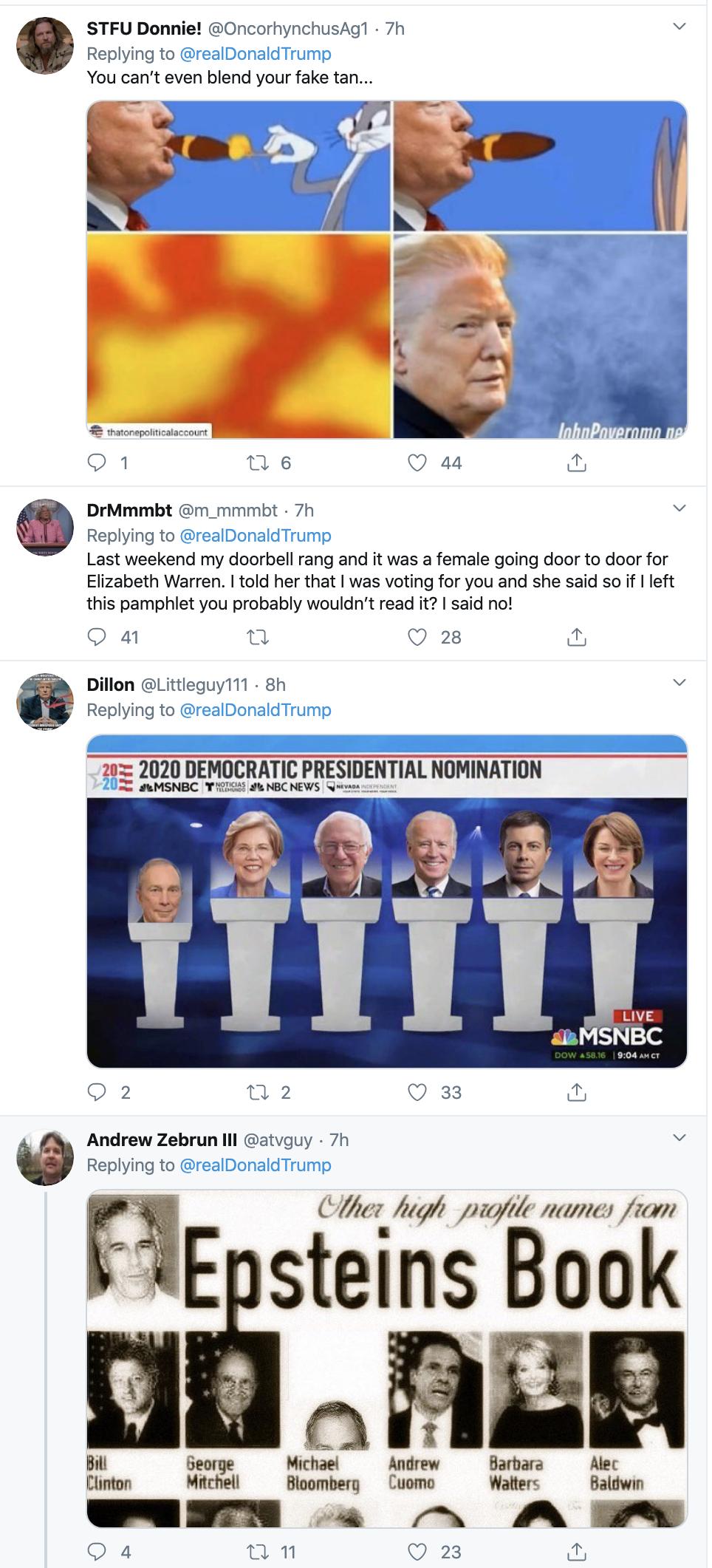 Screen-Shot-2020-02-20-at-8.21.51-AM Trump Tweets Fake Bloomberg Video During Multi-Tweet AM Meltdown Donald Trump Election 2020 Featured Politics Top Stories