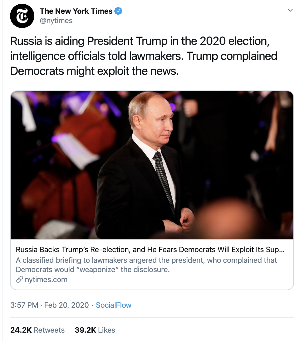 Screen-Shot-2020-02-21-at-11.23.53-AM Schiff Exposes Trump With Russian Meddling Evidence Declaration Crime Election 2020 Featured Politics Top Stories