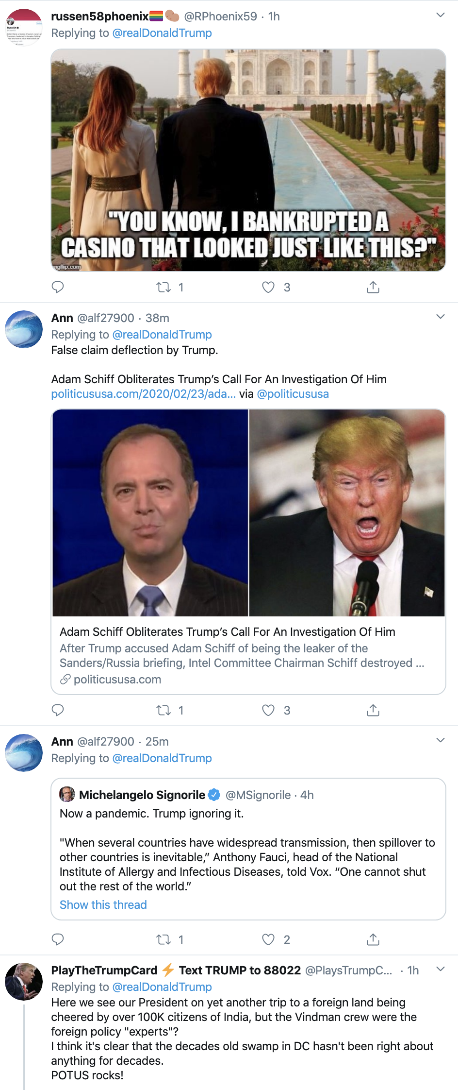 Screen-Shot-2020-02-24-at-2.25.30-PM Trump Tweets India Video Montage - Gets Mocked Instantly Corruption Donald Trump Featured Politics Top Stories