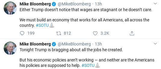 Screenshot-2020-02-05-at-10.31.30-AM Bloomberg Embarrasses Trump At SOTU With 6-Tweet Trolling Donald Trump Election 2020 Politics Social Media Top Stories