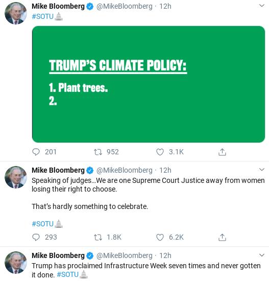 Screenshot-2020-02-05-at-10.33.05-AM Bloomberg Embarrasses Trump At SOTU With 6-Tweet Trolling Donald Trump Election 2020 Politics Social Media Top Stories