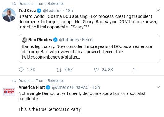 Screenshot-2020-02-08-at-10.00.28-AM Trump Comes Unglued In Saturday Twitter Freakout Corruption Donald Trump Politics Social Media Top Stories