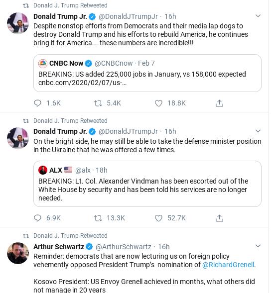 Screenshot-2020-02-08-at-10.00.56-AM Trump Comes Unglued In Saturday Twitter Freakout Corruption Donald Trump Politics Social Media Top Stories