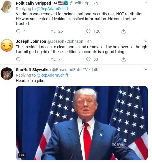 Screenshot-2020-02-08-at-10.33.40-AM Schiff Takes On Trump & Cowardly GOP Over Vindman Firing Corruption Donald Trump Impeachment Politics Social Media Top Stories