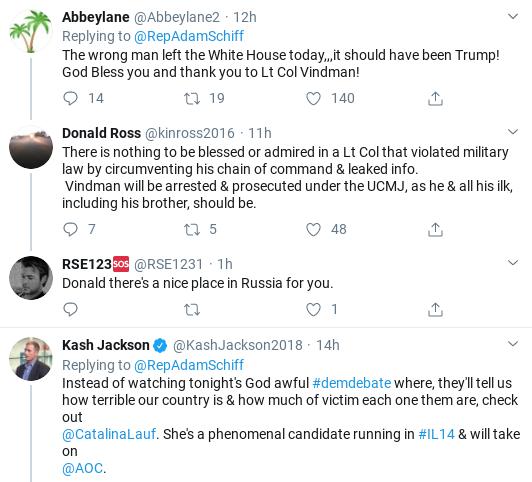 Screenshot-2020-02-08-at-10.34.31-AM Schiff Takes On Trump & Cowardly GOP Over Vindman Firing Corruption Donald Trump Impeachment Politics Social Media Top Stories