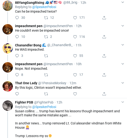 Screenshot-2020-02-08-at-9.42.34-AM Pelosi Powerfully Denounces Trump For Firing Vindman Donald Trump Impeachment Politics Social Media Top Stories