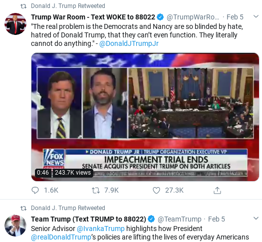 Screenshot-2020-02-09-at-12.02.34-PM Trump Finishes Watching Sundays Shows & Has Multi-Tweet Meltdown Corruption Donald Trump Impeachment Politics Social Media Top Stories