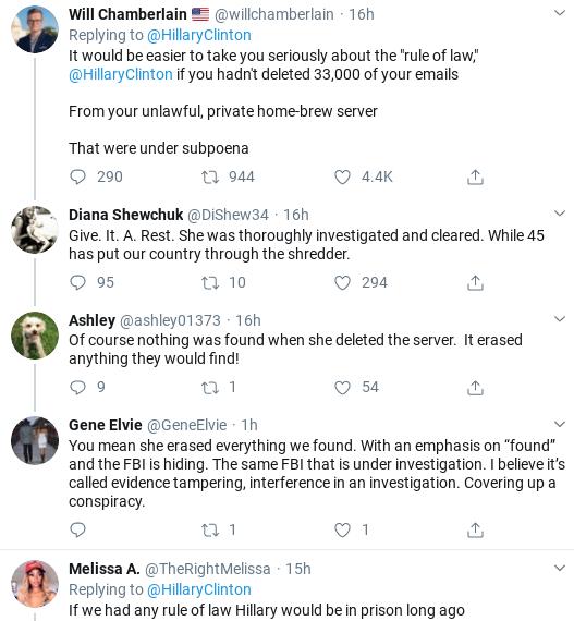 Screenshot-2020-02-12-at-10.25.14-AM Hillary Publicly Shames Trump Over Bill Barr Corruption Scandal Donald Trump Politics Social Media Top Stories