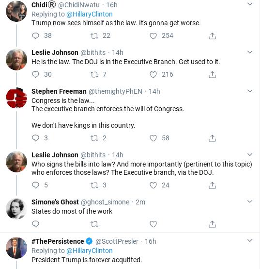 Screenshot-2020-02-12-at-10.26.02-AM Hillary Publicly Shames Trump Over Bill Barr Corruption Scandal Donald Trump Politics Social Media Top Stories