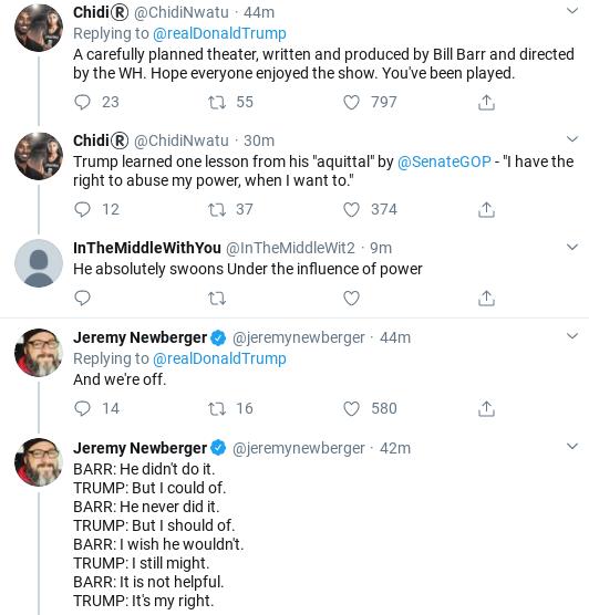 Screenshot-2020-02-14-at-9.20.25-AM Trump Tweets Ridiculous Power Claim After Barr Interview Donald Trump Politics Social Media Top Stories