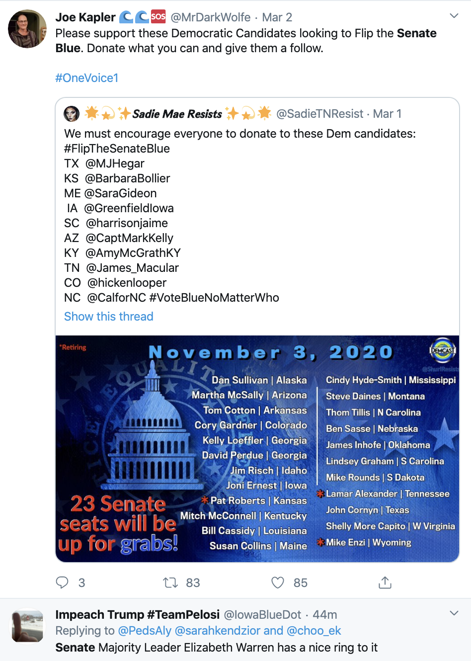 Screen-Shot-2020-03-05-at-12.51.12-PM New PPP Poll Shows Senate Could Flip Blue In 2020 Election 2020 Featured Politics Polls Top Stories