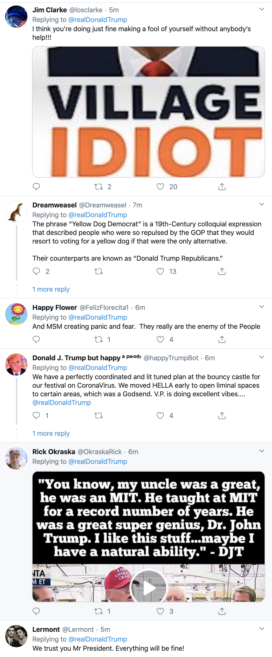 Screen-Shot-2020-03-08-at-7.53.31-AM Trump Says Media Lying About Coronavirus On Twitter Featured Healthcare National Security Politics Top Stories