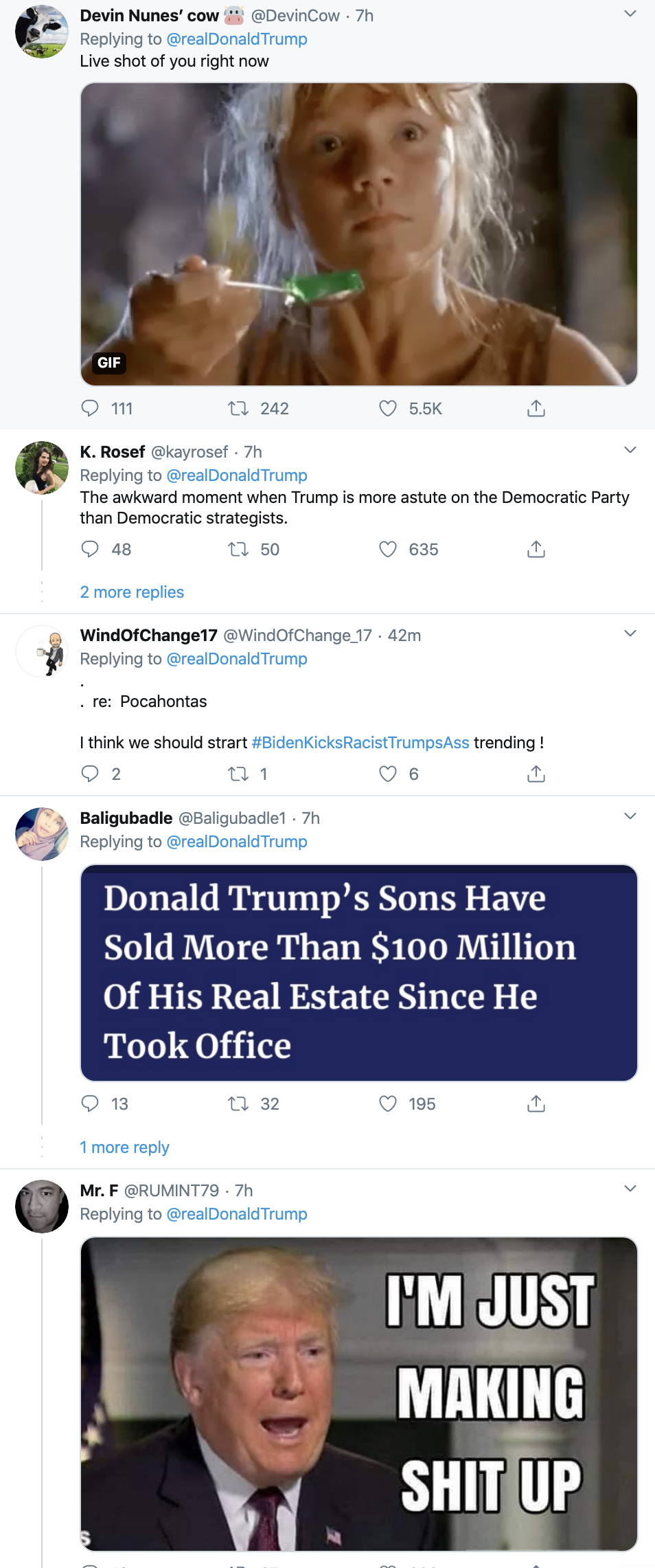 Screen-Shot-2020-03-11-at-7.17.12-AM Trump Sees Dem Primary Results & Has Racist Toddler Style Tantrum Corruption Donald Trump Featured Politics Top Stories