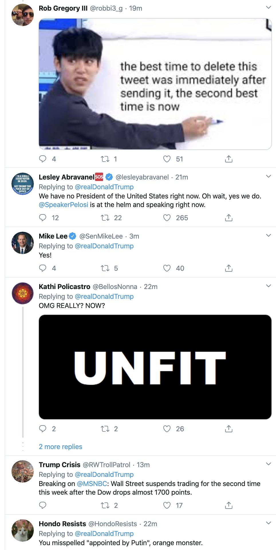 Screen-Shot-2020-03-12-at-10.08.47-AM Trump Goes After GOP Senators On Twitter Thursday Activism Featured Politics Top Stories