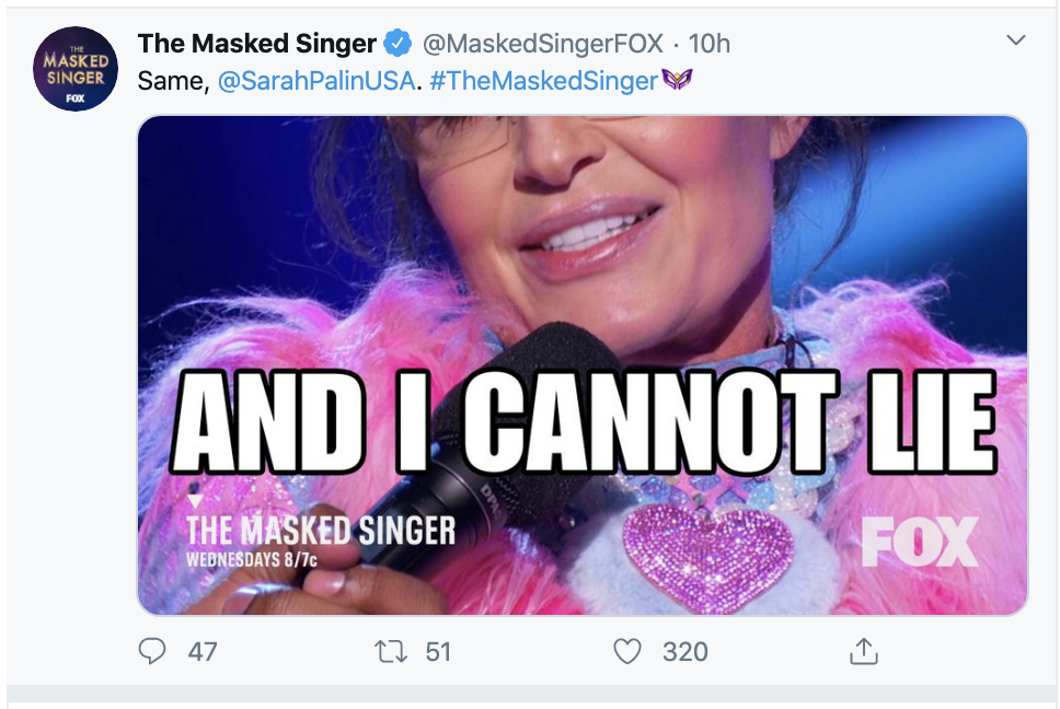 Screen-Shot-2020-03-12-at-7.58.55-AM Palin Humiliates Herself On 'The Masked Singer' Show Celebrities Featured Television Top Stories
