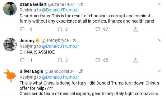 Screenshot-2020-03-13-at-12.34.33-PM Trump Jr. Goes On Rabid Racist Anti-China Virus Rant Donald Trump Politics Social Media Top Stories