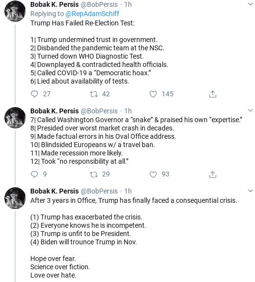 Screenshot-2020-03-15-at-1.10.07-PM Schiff Makes Staffer Coronavirus Announcement During Sunday Tweet Donald Trump Healthcare Politics Social Media Top Stories