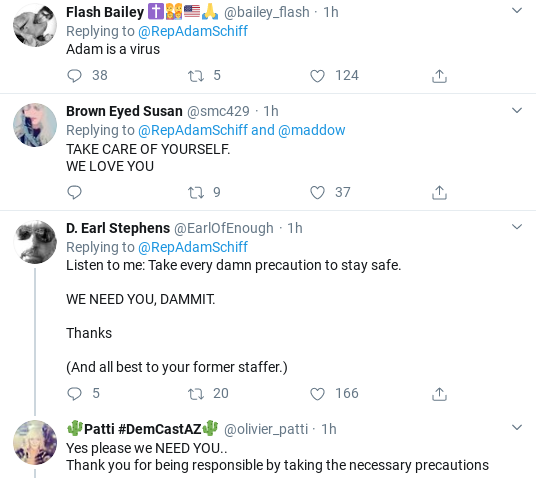 Screenshot-2020-03-15-at-1.10.33-PM Schiff Makes Staffer Coronavirus Announcement During Sunday Tweet Donald Trump Healthcare Politics Social Media Top Stories