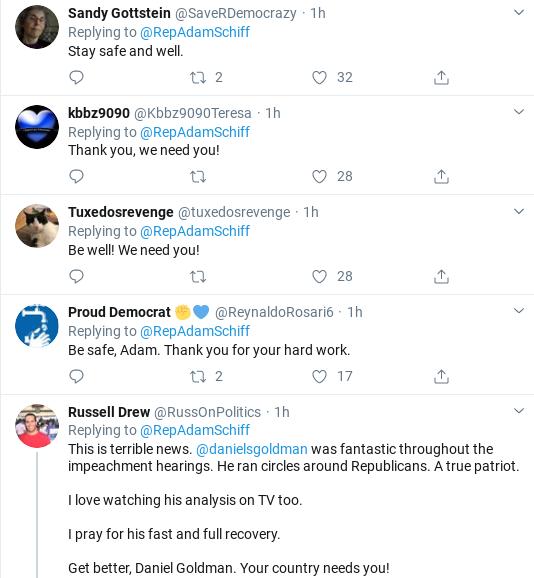 Screenshot-2020-03-15-at-1.10.54-PM Schiff Makes Staffer Coronavirus Announcement During Sunday Tweet Donald Trump Healthcare Politics Social Media Top Stories