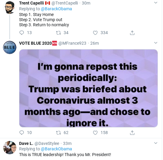Screenshot-2020-03-15-at-3.43.52-PM Obama Tweets Weekend COVID-19 Message Like A True Leader Donald Trump Politics Social Media Top Stories