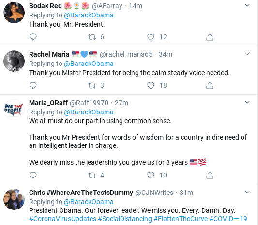 Screenshot-2020-03-15-at-3.44.53-PM Obama Tweets Weekend COVID-19 Message Like A True Leader Donald Trump Politics Social Media Top Stories