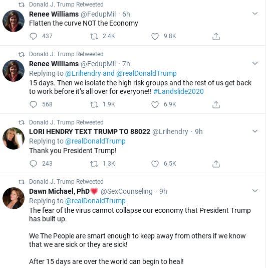Screenshot-2020-03-23-at-9.45.39-AM Trump Goes On 27-Tweet Spree To Distract From COVID-19 Donald Trump Politics Social Media Top Stories