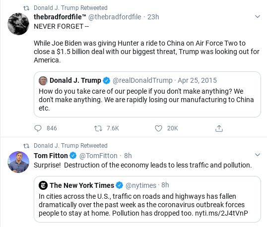 Screenshot-2020-03-23-at-9.49.32-AM Trump Goes On 27-Tweet Spree To Distract From COVID-19 Donald Trump Politics Social Media Top Stories