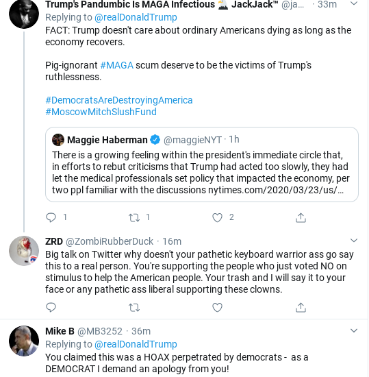 Screenshot-2020-03-23-at-9.53.38-AM Trump Goes On 27-Tweet Spree To Distract From COVID-19 Donald Trump Politics Social Media Top Stories