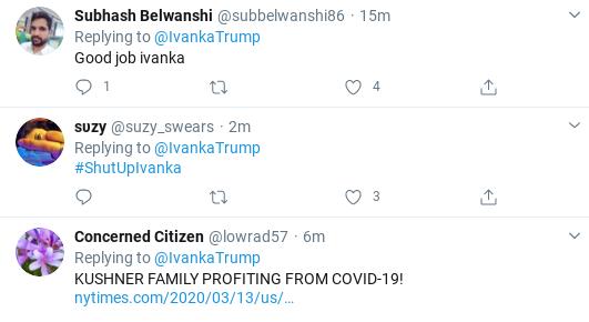 Screenshot-2020-03-25-at-10.22.54-AM Ivanka Suffers Wednesday Shaming After Corona Bailout Tweet Goes Wrong Donald Trump Politics Social Media Top Stories