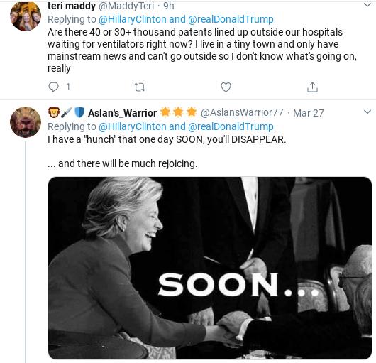 Screenshot-2020-03-29-at-10.50.56-AM Hillary Humiliates Trump With Coronavirus Failure Twitter Trolling Donald Trump Politics Social Media Top Stories